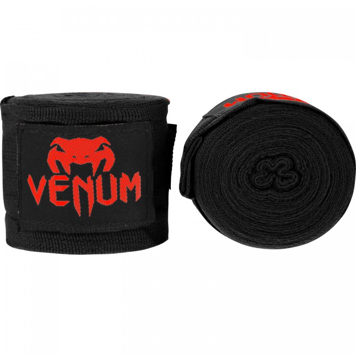 БИНТОВЕ - Venum Kontact Boxing Handwraps - 2.5m - Black/Red​