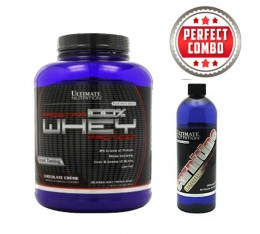 STACK - Ultimate Nutrition Prostar Whey / 2390 гр + Liquid L-carnitne 2000 mg / 355 ml