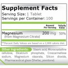 Pure Nutrition - Magnesium Citrate 200mg. / 100 tabs.