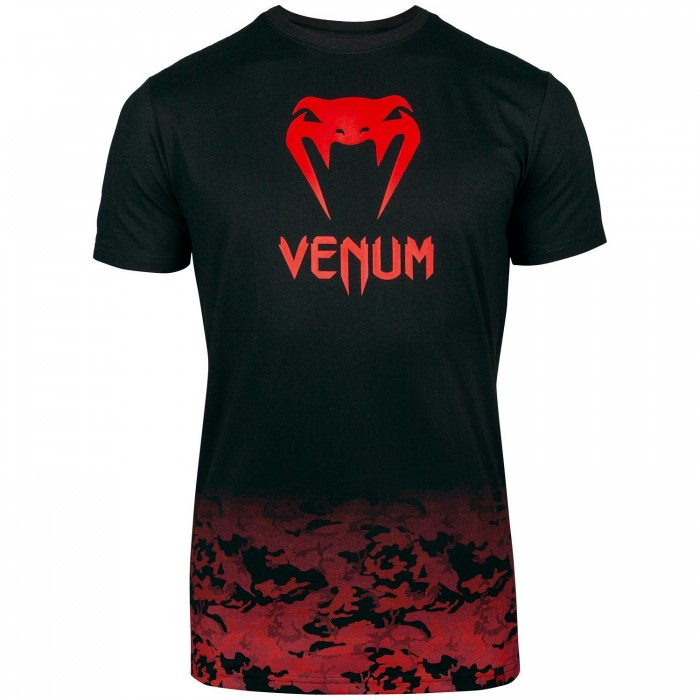 Тениска - Venum Classic T-shirt - Black/Red​ Urban Camo​