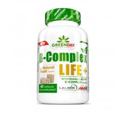 AMIX B-COMPLEX LIFE+ / 60 Caps. Хранителни добавки, Витамини, минерали и др., Витамин B, Витамин C, Витамин E