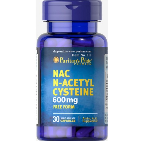 Puritan's Pride - N-Acetyl Cysteine / 600mg - 30 капсули Хранителни добавки, Антиоксиданти, Н-Ацетил Цистеин