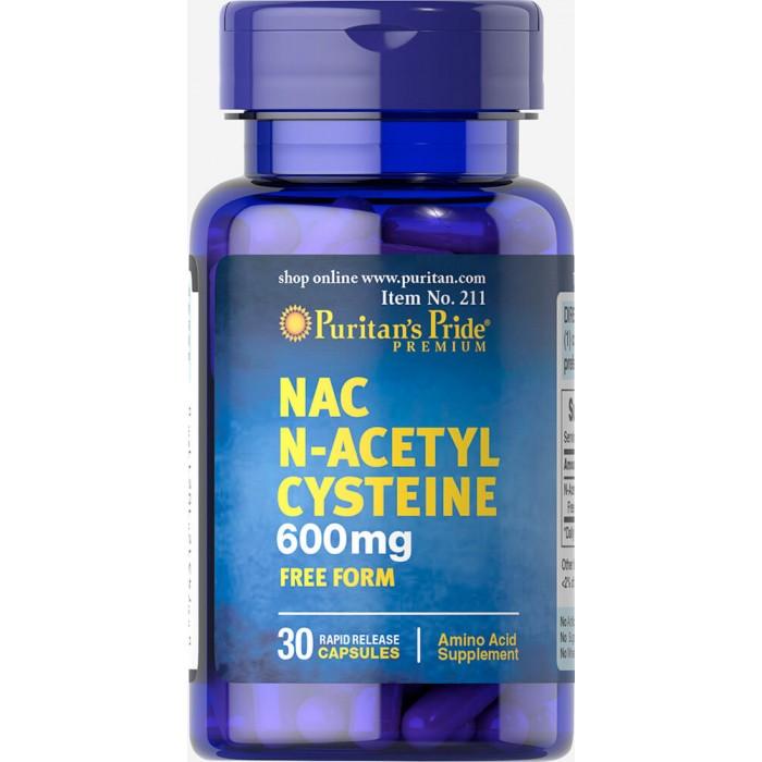 Puritan's Pride - N-Acetyl Cysteine / 600mg - 30 капсули