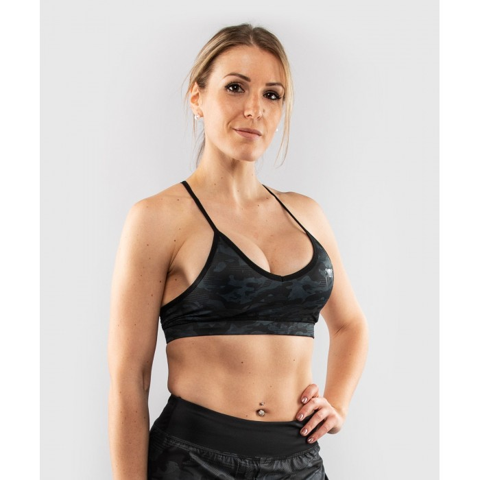 Дамско спортно бюстие - Venum Defender bras - for women - Black/Black​