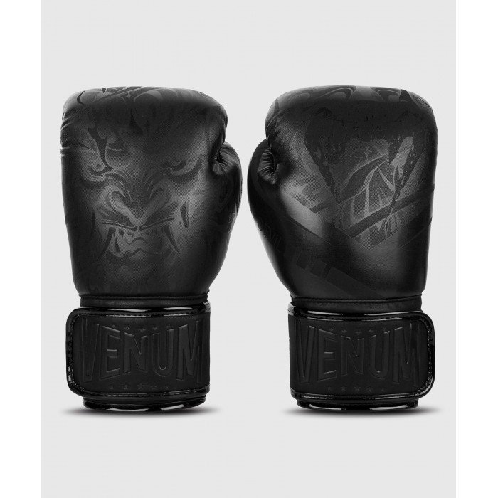 Боксови Ръкавици - Venum Devil Boxing Gloves - Black/Black​