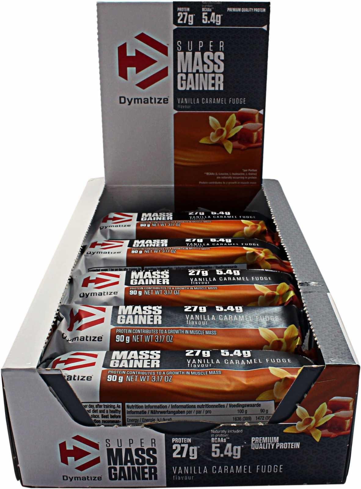 DYMATIZE Super MASS Gainer BAR Box 10 x 90g.