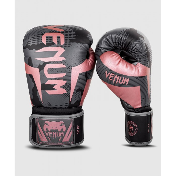 Боксови ръкавици - Venum Elite Boxing Gloves - Black/Pink Gold​