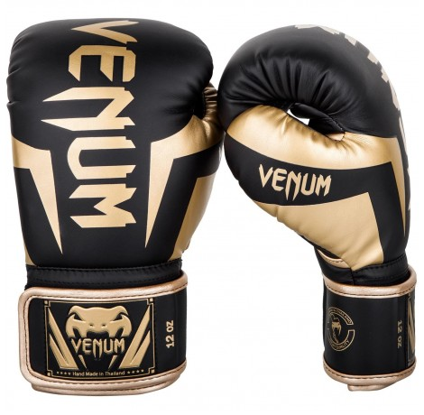 Боксови ръкавици - Venum Elite Boxing Gloves - Black/Gold