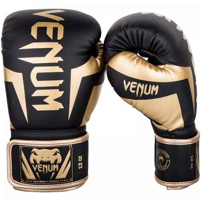 Боксови ръкавици - Venum Elite Boxing Gloves - Black/Gold​