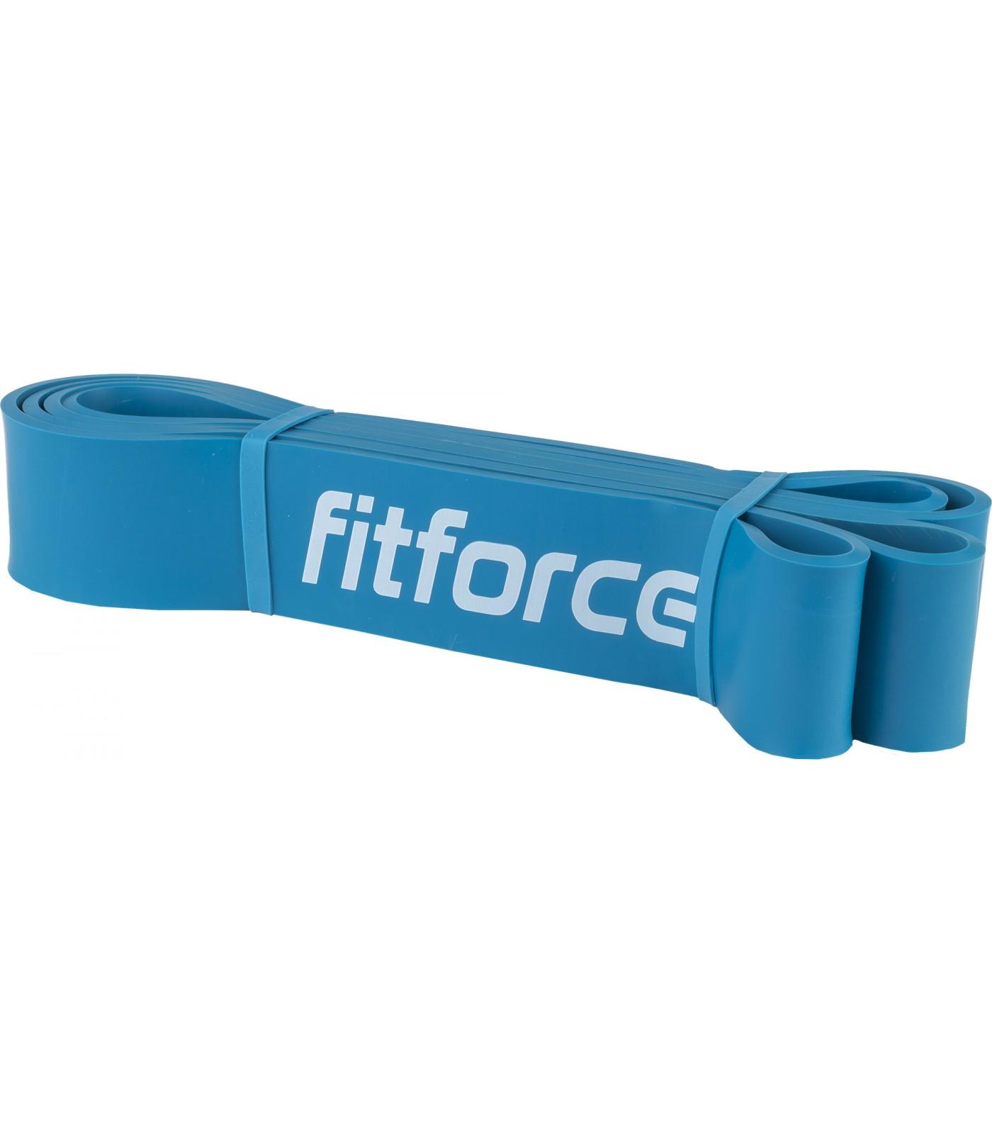 FitForce - Ластична лента за упражнения - Синя - 55 кг