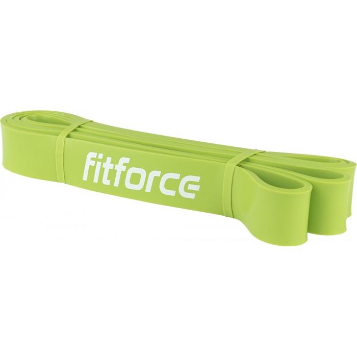 FitForce - Ластична лента за упражнения - Зелена - 35 кг
