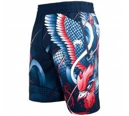 Шорти - Venum Rooster Fitness Shorts - Navy Blue/Orange​ Къси гащета