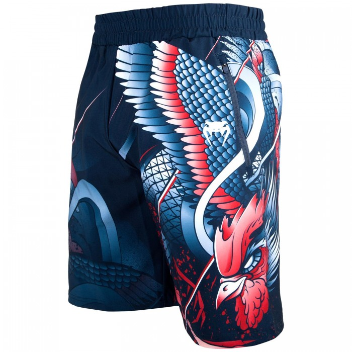 Шорти - Venum Rooster Fitness Shorts - Navy Blue/Orange​