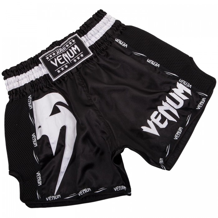 Муай Тай Шорти - Venum Giant Muay Thai Shorts - Black/White​