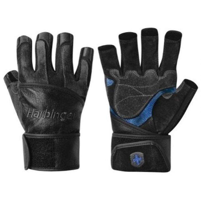 Harbinger - FlexFit Classic с накитници - черно/син цвят