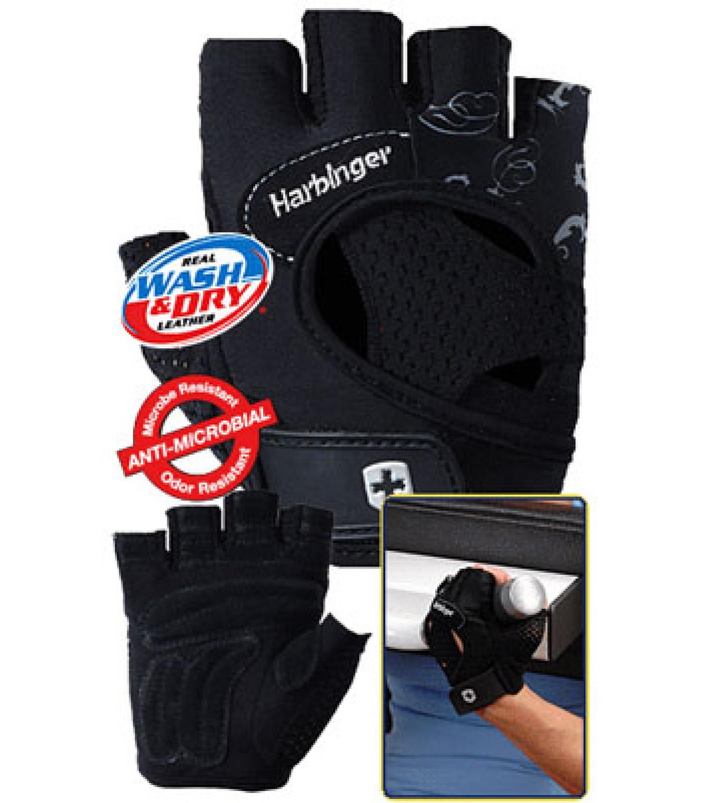Harbinger - Дамски фитнес ръкавици - FlexFit - Черни