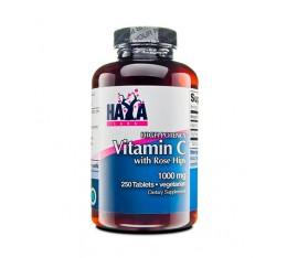 Haya Labs - Buffered Vitamin C 500mg with Bioflavonoids / 60 caps Хранителни добавки, Витамини, минерали и др., Витамин C