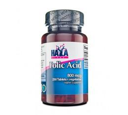 Haya Labs - Folic Acid 800mcg. / 250 Vtab. Хранителни добавки, Витамини, минерали и др., Витамин B
