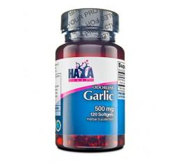 Haya Labs - Odorless Garlic 500mg / 120 softgel caps Хранителни добавки, На билкова основа