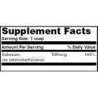HAYA LABS Selenium /Chelated -yeast free/ 100mcg. / 120 caps.