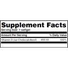 Haya Labs - Vitamin D 400IU / 100 softgel caps
