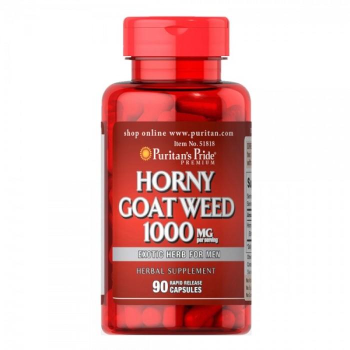 Puritan's Pride - Horny Goat Weed / 1000 мг - 90 таблетки