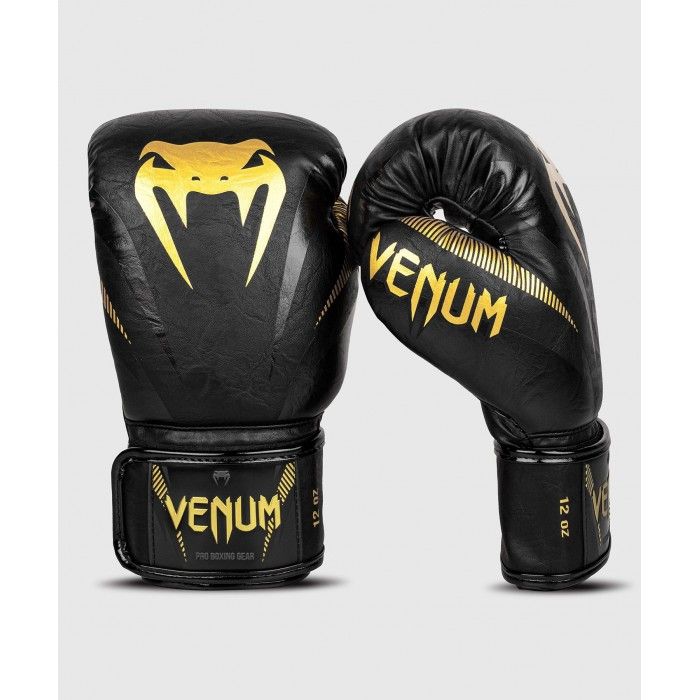 Боксови Ръкавици - Venum Impact Boxing Gloves - Gold/Black​
