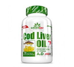 AMIX Greenday Cod Liver Oil / 90 Soft. Хранителни добавки, Витамини, минерали и др.