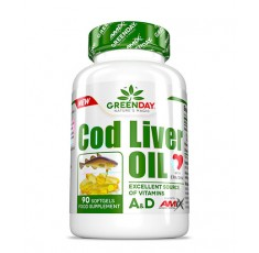 AMIX Greenday Cod Liver Oil / 90 Soft.​