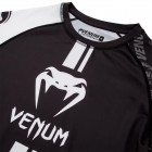 Рашгард - Venum Logos Rashguard Short Sleeves - Black/White