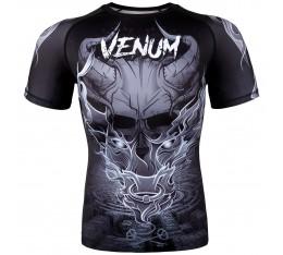 Рашгард - Venum Minotaurus Rashguard - Short Sleeves - Black/White Рашгарди