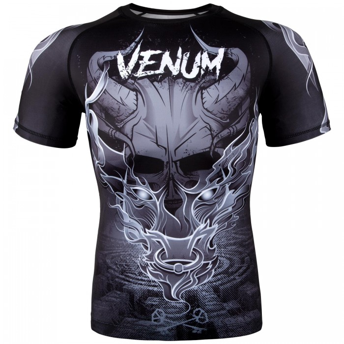 Рашгард - Venum Minotaurus Rashguard - Short Sleeves - Black/White​
