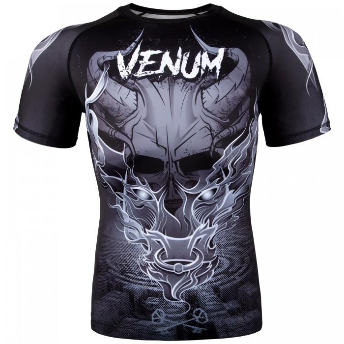 Рашгард - Venum Minotaurus Rashguard - Short Sleeves - Black/White
