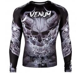Рашгард - Venum Minotaurus Rashguard - Long Sleeves - Black/White Рашгарди