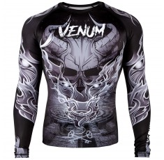 Рашгард - Venum Minotaurus Rashguard - Long Sleeves - Black/White​