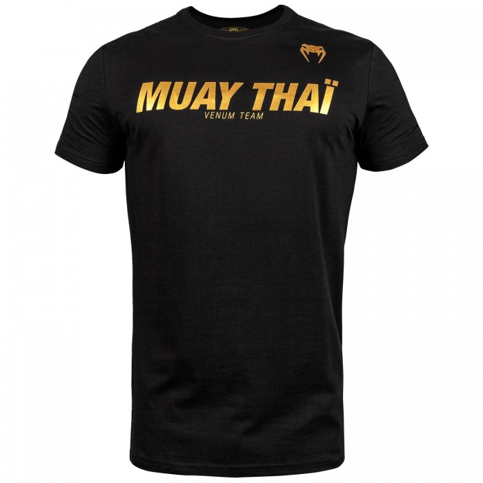Тениска - Venum Muay Thai VT T-shirt - Black/Gold​