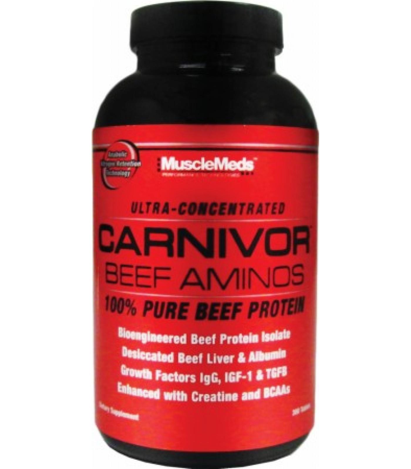 MuscleMeds - Carnivor Beef Aminos / 300 tabs.
