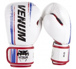 Боксови ръкавици - Venum Bangkok Spirit Boxing Gloves - Nappa leather - White Боксови ръкавици