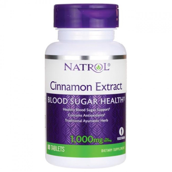 Natrol - Cinnamon Extract / 80 caps