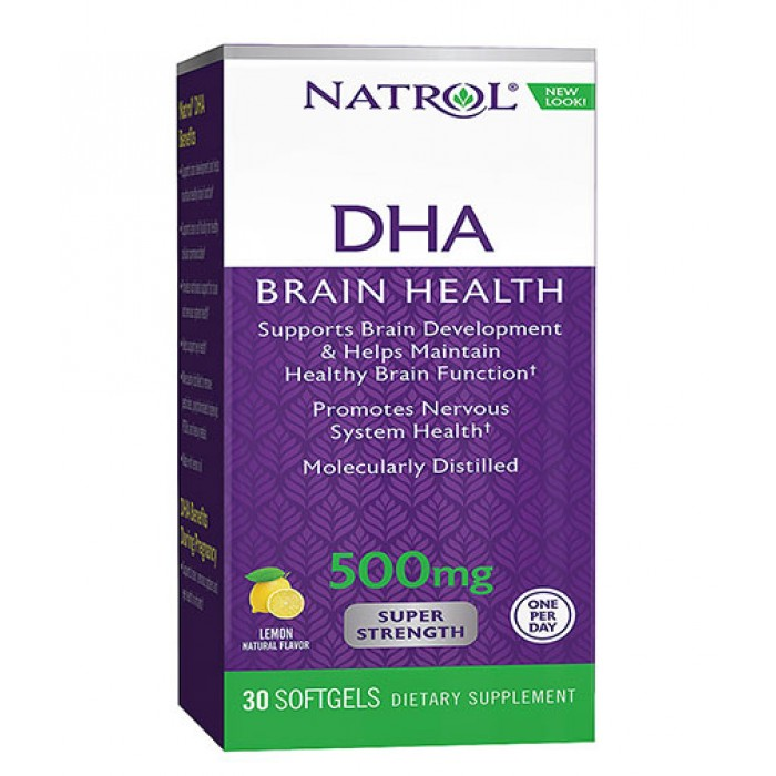 Natrol - DHA 500mg Super Strength / 30 Softgels.