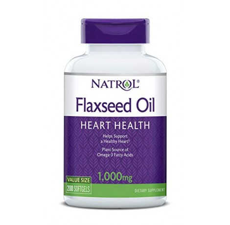 Natrol - Flax Seed Oil 1000mg / 200 gel caps