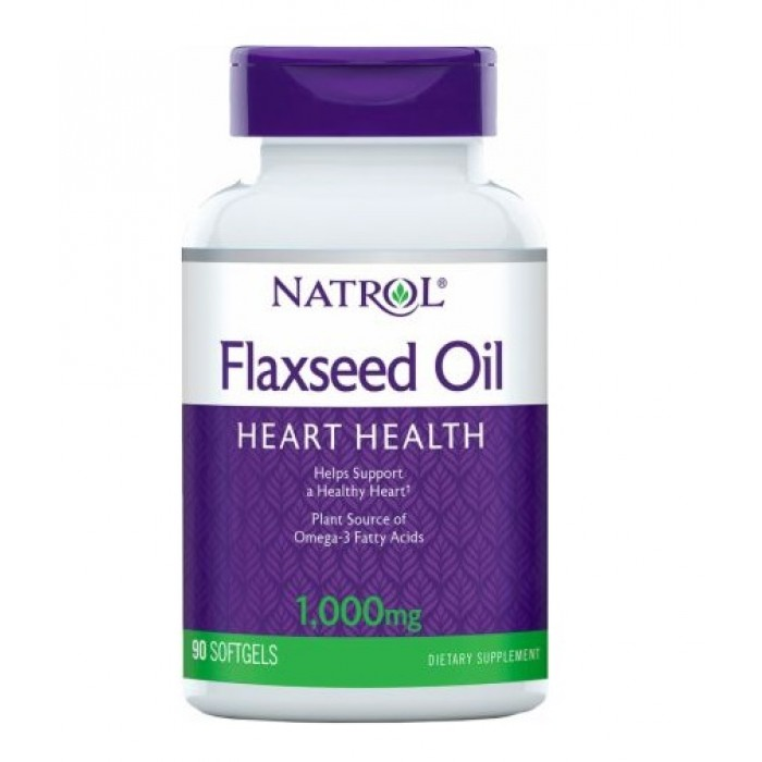 Natrol - Flax Seed Oil 1000mg / 90 softgels