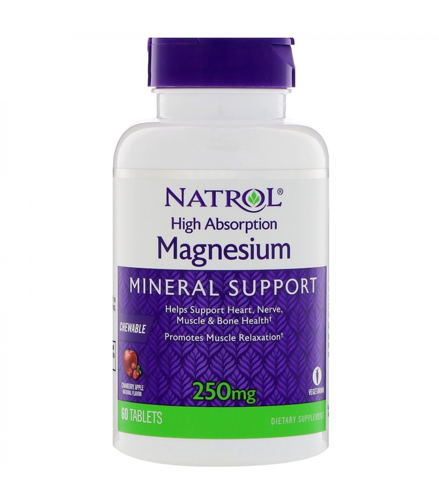 Natrol - Magnesium High Absorption / 60 chew tabs.