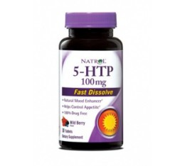 Natrol - 5-HTP 100mg Fast Dissolve / 30 tabs. Хранителни добавки, Здраве и тонус