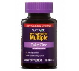 Natrol - My Favorite Multiple Take One / 60 tabs Хранителни добавки, Витамини, минерали и др., Мултивитамини
