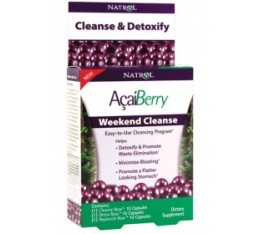 Natrol - Acai Berry Weekend Cleanse / 3 кутии x 10 caps Хранителни добавки, Антиоксиданти, Акай