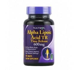 Natrol - Alpha Lipoic Acid 600mg - Time Release / 45 tabs Хранителни добавки, Антиоксиданти, Алфа-Липоева киселина