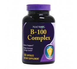 Natrol - B-100 Complex  / 100 tabs. Хранителни добавки, Витамини, минерали и др., Витамин B