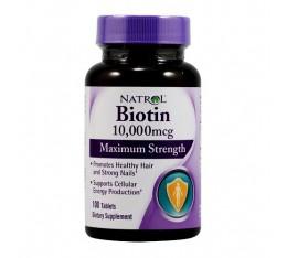 Natrol - Biotin Maximum Strength / 100 tab Хранителни добавки, Здраве и тонус