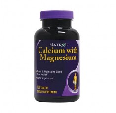 Natrol - Calcium With Magnesium / 120 tab Хранителни добавки, Витамини, минерали и др., Калций и Магнезий